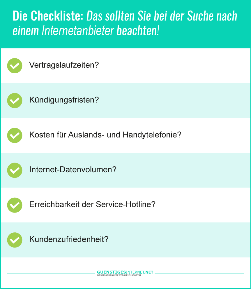 Checkliste für eine günstige Handy Internet Flatrate