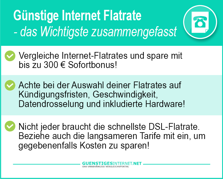 Günstige Internet Flatrate