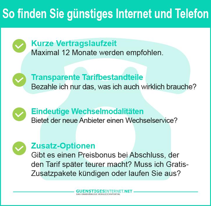 Günstiges Internet und Telefon