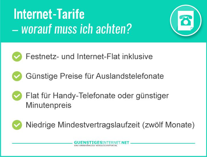 Internet Tarife vergleichen